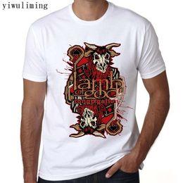 Wholesale rock band tops - 2017 Summer new Lamb of God Rock Band T Shirt Printing Short-Sleeved Tees O-Neck Tops & Tees