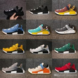 Wholesale Mens Gym - HOTSALE 2018 New Human Race PHARRELL WILLIAMS NMD Pale Nude Women Men Mens Luxury Running Designer Shoes Sneakers Brand Trainers