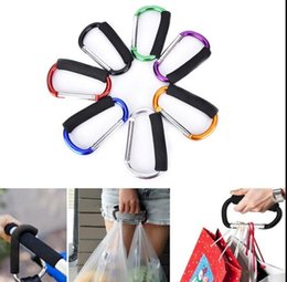Wholesale Wholesale Gear Bags - Multi-function Carabiner Hook Gear Hanging Buckle Rock Lock With Sponge For Shopping Climbing Shopping Bag Hook KKA3639