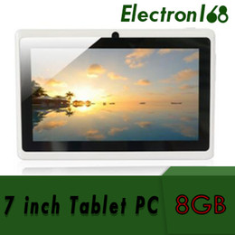 7 pouce tablet pc  Promotion 60X 2018 Capacitive Allwinner A33 Quad Core Android 4.4 double caméra Tablet PC 8 Go de RAM 512 Mo ROM WiFi EPAD Youtube Facebook Google DHL