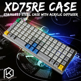 Wholesale Panel Stainless Steel - stainless steel bent case for xd75re 60% custom keyboard acrylic panels acrylic diffuser