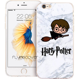 Housses pour iphone harry potter en Ligne-Étui Shell Funda Harry Potter en marbre pour iPhone 10 X 7 8 Plus 5S 5 SE 6 6S Plus 5C 4S 4 iPod Touch 6 5 Housse en silicone TPU transparente et souple.