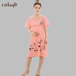 1d0fd5f5b Ropa de dormir de maternidad de algodón de verano mujeres embarazadas  pijama lactancia desgaste de la lactancia ropa para la alimentación ropa de  enfermería ...