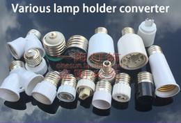 Wholesale e27 screw base - E27 to E40 E27 B22 G9 G5.3 MR16 GU10 G24 Lamp Holder Converter Single-head Conversion Lamp Base E27 Screw Mouth Light Socket