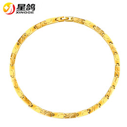 Wholesale Radiation Protection - High Quality Magnetic Magnets Power necklace Stainless Steel Necklace Link Chain silver gold Color Jewelry Radiation protection Neckwear