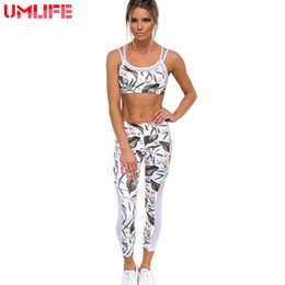 Wholesale Workout Cloths - Yoga Suits Women Tracksuits 2 Pieces Yoga Set Bra+Yoga Leggings Sports Women Fitness Suit Mesh Patchwork Workout Gym Cloth
