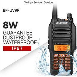 Wholesale Walkie Talkie Radio Baofeng - Baofeng UV9R walkie talkie accessories 2200mAh battery waterproof IP67 136-174 400-520 MHz outdoor CB ham radio for hunting 10km