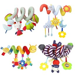 Wholesale Bell Seats - Soft Infant Crib Bed Stroller Toy Spiral Baby Toys For Newborns Car Seat Hanging Bebe Bell Educational Rattle Toy For Gift