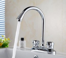 Wholesale Ceramic Bathroom Wash Basin - Copper kitchen dish basin faucet chrome, Bathroom water sink basin faucet mixer tap,Rotated brass wash hot and cold