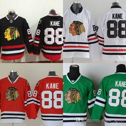 Deutschland Factory Outlet, Jugend Chicago Blackhawks # 88 Patrick Kane Kinder Jersey Schwarz 100% Genähtes authentisches Blackhawk Hockey Jerseys Shirt supplier hockey shirt kid Versorgung
