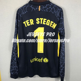 Wholesale Quick Door - Full long sleeve Goalkeeper jerseys Ter Stegen Black shirts 2017 2018 Club home away third soccer Goalie GK Door man uniforms football kits