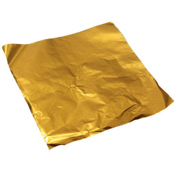 Wholesale Wholesale Candy Paper Wrappers - Wholesale- Hot sale100pcs Square Sweets Candy Chocolate Lolly Paper Aluminum Foil Wrappers Gold