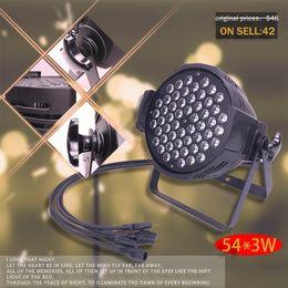 54 * 3W LED 8 canales DMX512 RGBW Latas PAR Luces Etapa Business 135W Luz de alta potencia con profesional para fiesta Disco DJ BAR Escarda desde fabricantes
