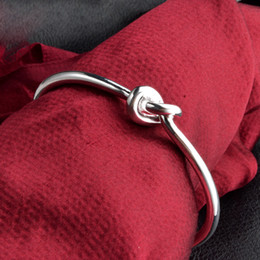 Wholesale Sterling Silver Knot - 925 Sterling Silver Knot Bracelets Designer Bracelet Stainless Steel Jewelry Mens Bangles Luxury Jewelry Chain Mothers Day Gifts