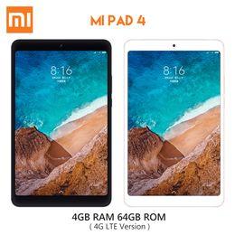 Original Xiaomi Mi Pad 4 Tablette 4 Go de RAM 64 Go de RAM Qualcomm Snapdragon 660 Octa Core 8.0 pouces MIUI 9 WiFi 4G LTE Version ? partir de fabricateur