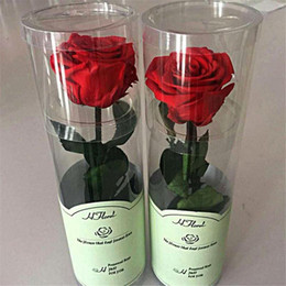 Wholesale Birthday Flower Bouquets - Eternal Flower Rose Real Fresh Flower Bouquet For Christmas Valentine 'S Day Birthday Gifts Wedding Romantic Real Wedding