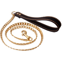 Bracelet en cuir Figaro Chaîne Drag Animal NK Chaînes Pet Chien Sécurité Traction Laisse Chaîne Pour Un Plus grand Contrôle Sécurité Formation Chiens Outils Fournitures ? partir de fabricateur