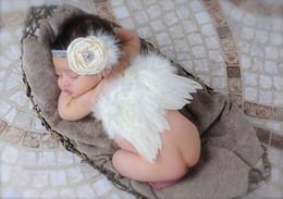 2019 fotografía de cumpleaños Baby Party Diadema bebé recién nacido Fotografía Apoyos Diamante Rose Diadema Alas de Ángel Infantil bebé Foto Prop rebajas fotografía de cumpleaños