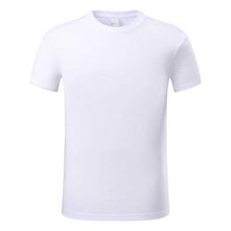 Camicia bianca a buon mercato collo rotondo online-uomini economici della maglietta bianca del collo del bicchierino del manicotto del collo di prezzi bassi 100% cotone
