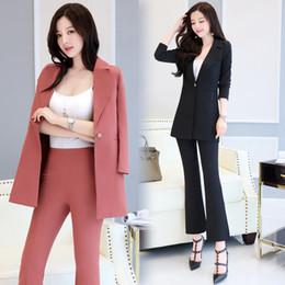 Wholesale Elegant Casual Pants Suits - The New Pant Suits Women Casual Office Business Suits Formal Work Wear Sets Uniform Styles Elegant Pant two piece set L205