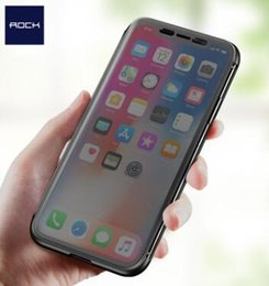 Wholesale Case Iphone Rocks - for iPhone X Case, ROCK Dr.v Series Flip Transparent Invisible Full Window Flip Case for iPhone X flip cover for iPhoneX