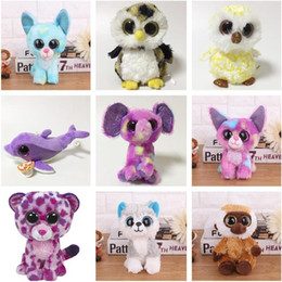 4235f7c68e4 Ty Beanie Boos Toy Doll Baby Girl Birthday Gift 15cm Big Eyes Stuffed Animal  Doll Unicorn Owl Leopard Elephant Huskey mk0457