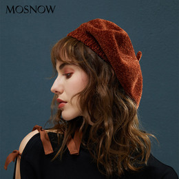 3372a356d6378 Winter Berets For Women s Beanie Top Quality Chenille Material Knitted Hats  Female 2018 New Vintage Beret For Girls Lady Beanies