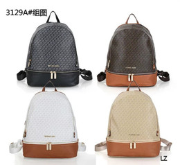 Wholesale acrylic felt - 2018 Hot Sell Classic Fashion bags women men PU Leather Backpack Style Bags Duffel Bags Unisex Shoulder Handbags backpackes with tags A001