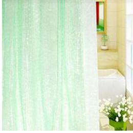 2019 eco amigável espessamento chuveiro cortina 1.8 * 1.8 m à prova de moldes à prova d 'água 3d engrossado banheiro banho cortina de chuveiro ecológico branco melhor preço desconto eco amigável espessamento chuveiro cortina