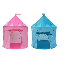 Wholesale Person Toy - Free Shipping Children Beach Tent Prince and Princess Castle Children Playing Indoor Outdoor Toy Tent Game House 100Pcs