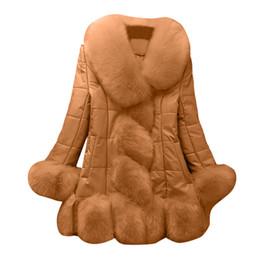 2019 сладкие элегантные пальто JAYCOSIN элегантный 2018 женщин искусственного меха пальто элегантный теплый сращивания верхняя одежда длинные поддельные меха пуховик сладкий дизайн EY07 дешево сладкие элегантные пальто