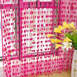 Wholesale Roller Blind Door - Curtains for Living Room 200cm x 100cm Silk String Curtain blinds Window Door Divider Sheer Curtains Valance Window kitchen