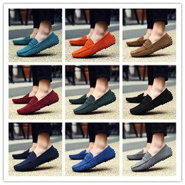 Wholesale Rubber Boats - Summer Men's Penny Loafers Moccasin Driving Shoes Slip On Flats Boat Shoes Size 38-48 AK2088