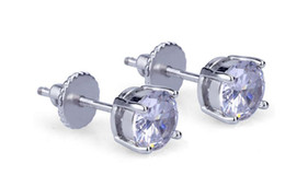 Wholesale Brilliant Diamond Earrings - 1.10 Ct. Round Brilliant Cut Lad Diamond Stud Earrings 14k Gold-White