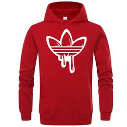 Colores de sudadera online-Mens Branded Hoodie Light Fleece Sudaderas Moda Impreso Sudaderas con capucha 6 colores Street Style Mens Sportswear