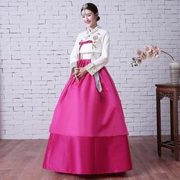 Argentina Tradicional bordado de la ropa coreana floral real de la boda Hanbok vestido Vintage Cosplay Traje de rendimiento de la ropa cheap korean traditional clothes Suministro