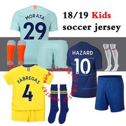 7ecde2d95a 18 19 kits para niños + camisetas Chelsea de fútbol calcetines 2018 2019  MORATA Hazard GIROUD DAVID LUIZ camiseta de fútbol jersey BAKAYOKO RUDIGER  WILLIAN ...