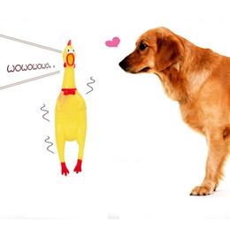 brinquedo de galinha engraçado Desconto Venda quente Engraçado De Borracha Amarelo Gritando Pet Pet Squeaky Chew Brinquedo Pet Suprimentos Barato Pet Dog Chew Toy Frango De Plástico