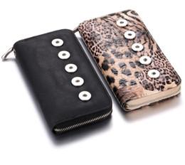 leopard wallets für frauen Rabatt Frauen-Beutel-Charme-graue Leopard-Druck-Verschluss-Geldbeutel Pu-Leder-Tasche 5 Knopf-Geldbörsen-Griff-Art und Weise Verschluss-Schmucksachen