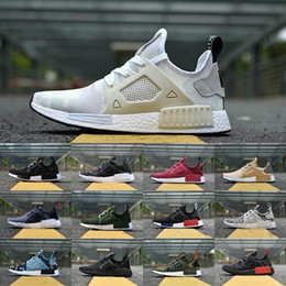 Wholesale red borders - 2018 New Original NMD_XR1 PK Running Shoes Cheap R1 NMD XR1 Runner japan Primeknit OG PK Human Race Black White Men Women Casual Sneakers