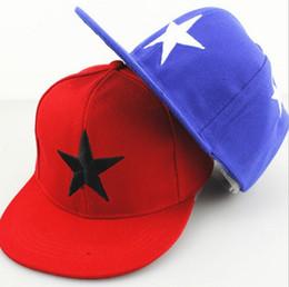 Cappello di picchi dei ragazzi online-I capretti di modo scherza i berretti da baseball del modello di stella dei berretti da baseball regolabili della stella dei capretti dei bambini dei capretti di snapback hip-hop di estate
