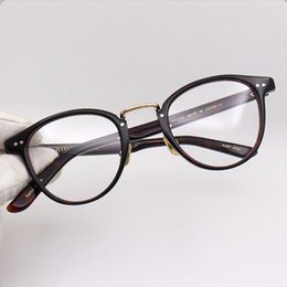 fcdf45da09 Classical brand glasses VINTANGE YELLOWS PLUS KURT round unisex frame  48-22-145 quality pure-plank prescription glasses freeshipping