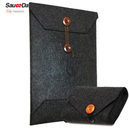 Wholesale 13 Charger - For New MacBook Pro 13 15 Case Wool Felt sleeve bag for macbook pro 13 A1706 A1708 A1707 model laptop with Mouse Charger pouch