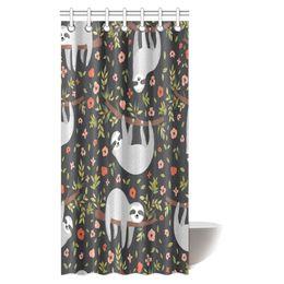 Canada Aplysia mignon bébé paresseux rideau de douche de tissu paresseux sur l'arbre avec des crochets 36 x 72 pouces cheap cute shower curtains Offre