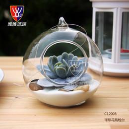 2019 appesi vasi di vetro rotondi 10CM Grande Terrario Borosilicato Hanging Vaso di vetro rotondo Vasi da tavolo rotondi Home Decor Decorazione di cerimonia nuziale Trasparente sconti appesi vasi di vetro rotondi