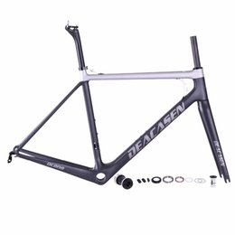 Wholesale super light bike frame - 2018 Toray T1000 Carbon Road Bike Frame Super Light carbon road Frame carbon bicycle frame with 2 years warranty