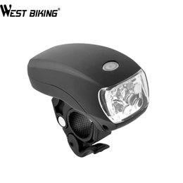 Wholesale Headlight Brackets - WEST BIKING Ultra Bright 5 LED Bicycle Lamp Bracket 3-Modes Waterproof Bike Front Torch Headlight Safety Lamp Bike Cycling Lamps