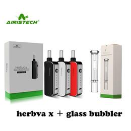 Borbulhador de câmara on-line-Original Airistech Herbva X Kit 3 em 1 1800 mah battert erva seca vaporizador cera de óleo Vape caneta com borbulhador de vidro Câmara de aquecimento de cerâmica completa