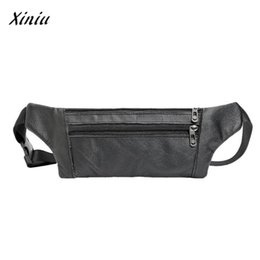 Модный ремень онлайн-Men Leather Waist Fanny Pack Bum Waist Bags fanny pack belt bag men Adjustable Belt Bag Pouch Travel Hip Purse