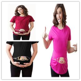Argentina Nueva ropa de maternidad Camiseta de manga corta Tops Mujeres embarazadas Dibujos animados Camisetas divertidas Más Suministro